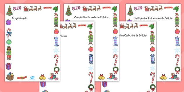 Pagini de Crăciun - Fișe cu contur