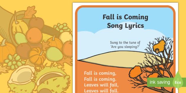 Fall is Coming Song Lyrics
