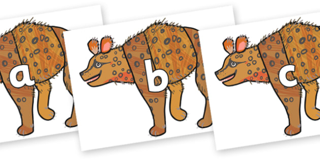 Phase 2 Phonemes on Hyena to Support Teaching on The Bad Tempered Ladybird - Phonemes, phoneme, Phase 2, Phase two, Foundation, Literacy, Letters and Sounds, DfES, display