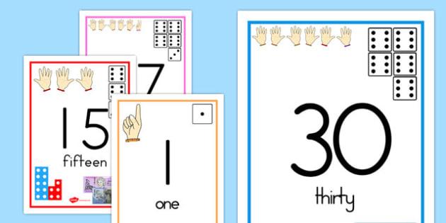 Australia - Visual Number Line Posters 1-30 - australia, visual, numberline, posters