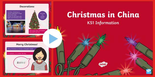 KS1 Christmas in China PowerPoint - Christmas, Nativity, Jesus, xmas, Xmas, Father Christmas, Santa, St Nic, Saint Nicholas, traditions,
