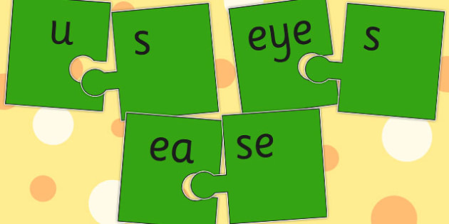 Vowel and Final 'Z' Jigsaw Cut Outs - vowel, final, z sound, game