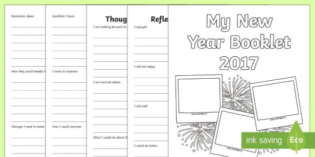 KS2 New Year Activity Booklet - KS2 New Year activity, New Year writing, KS2 New Year, resolutions, changes, KS2 resolutions.