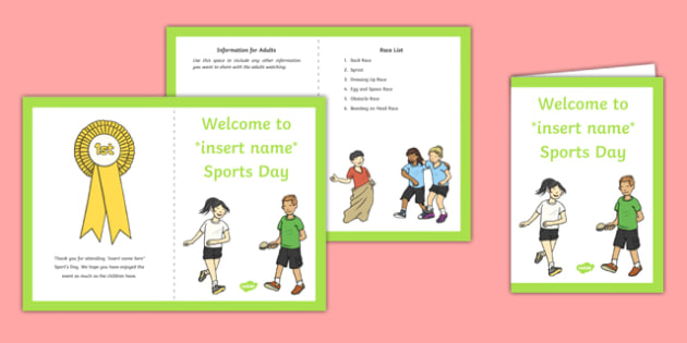 EYFS Races Sports Day Parents Leaflet