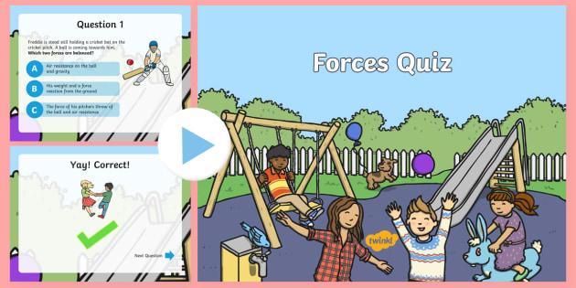 Forces Quiz - forces, powerpoint, quiz, powerpoint quiz