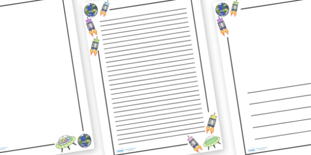 Five Little Men in a Flying Saucer Page Borders - Five Little Men in a Flying Saucer, Literacy, writing, page border, a4 border, template, writing aid, writing border, page template, nursery rhyme, rhyme, rhyming, nursery rhyme story, nursery rhymes,