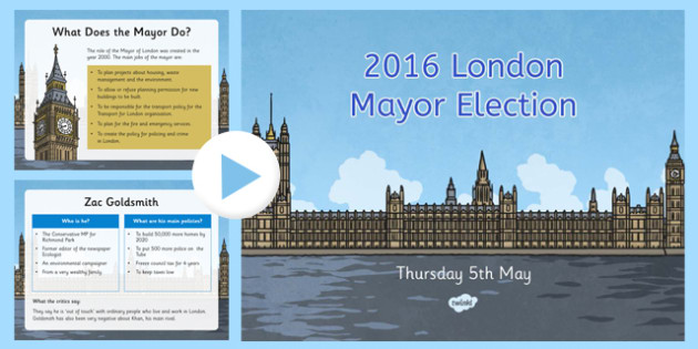 2016 London Mayor Elections PowerPoint