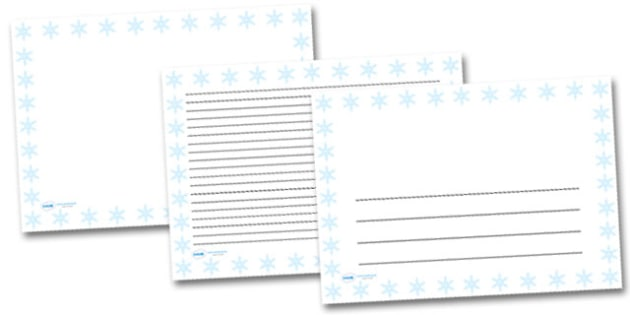 Snowflake Landscape Page Borders- Landscape Page Borders - Page border, border, writing template, writing aid, writing frame, a4 border, template, templates, landscape
