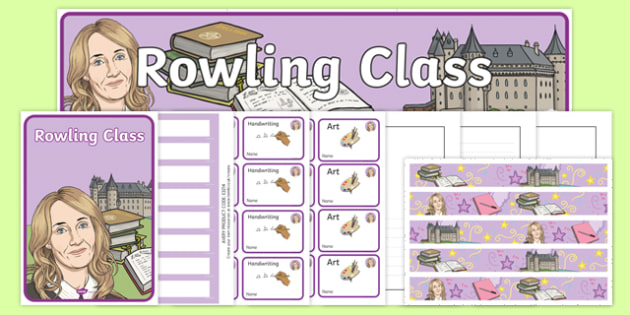 J K Rowling Themed Class Resource Pack - j k rowling, harry potter, magic, wizards, hogwarts, hermione granger, ron weasley, book, novel, story, class, resource pack