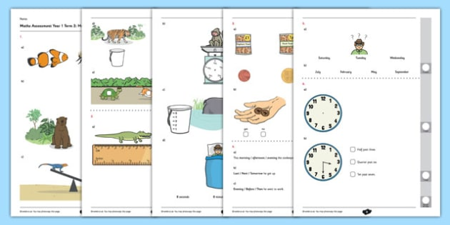 Year 1 Maths Assessment: Measurement Term 2 - ks1, key stage 1, numeracy, numbers, answers, record, assessment, base line, topic, objective, units of measure, kg, grams, distance, mass, capacity, ml, litres, cm,