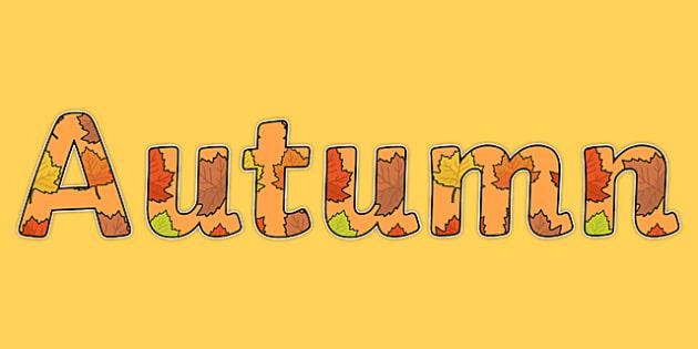Autumn Display Lettering - autumn, display lettering, autumn display lettering, lettering, lettering for display, letters, autumn letters, display