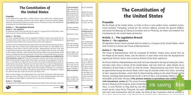 The United States Constitution Read Along - Revolution, Constitution, laws, declaration of independence, The United States Constitution, The Con