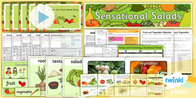 PlanIt - D&T KS1 - Sensational Salads Unit Pack