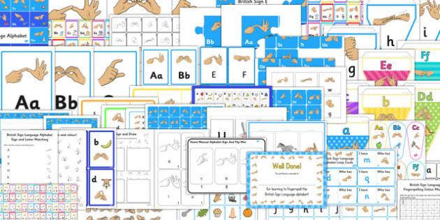 British Sign Language Fingerspelling Alphabet Pack - alphabet
