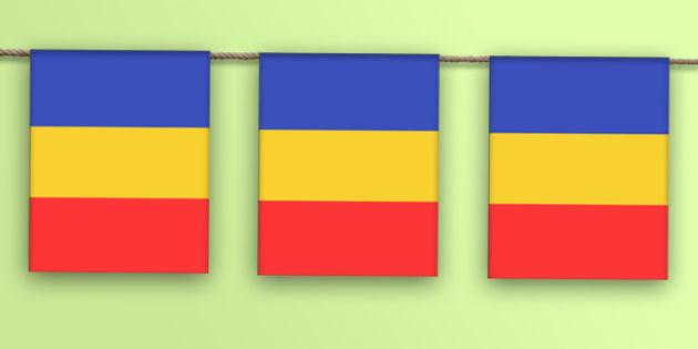 Steagul Romaniei, Stegulete - Romania, ziua nationala