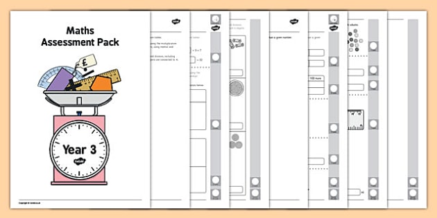 Year 3 Maths Assessment Pack Term 1 - assessment, pack, year 3, maths, numbers