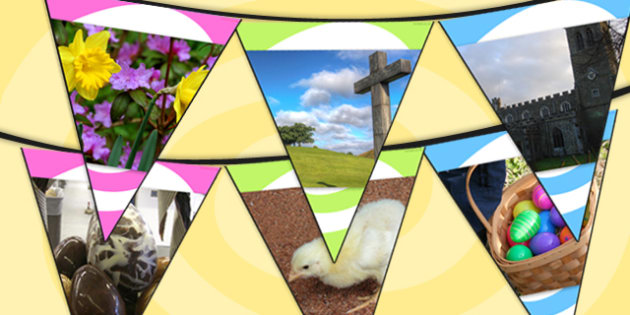 Easter Photo Bunting - easter, religion, RE, easter display