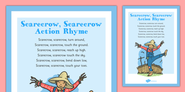 Scarecrow, Scarecrow Rhyme - autumn, rhyme, music, eyfs, early years, scarecrow, halloween