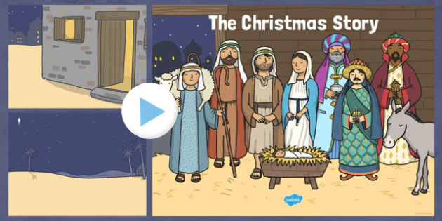 The Nativity Christmas Story Background PowerPoint - nativity, christmas story, background, powerpoint