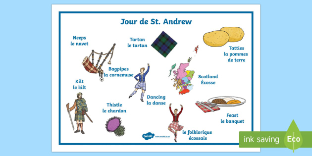 St Andrew's Day (French) Word Mat