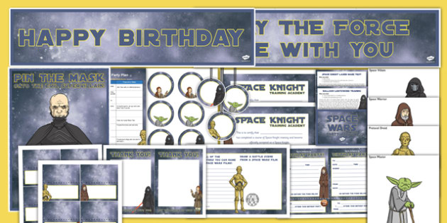 Space Wars Party Planning Pack - Star wars party, space wars, party, planning, pack, party planning, plan