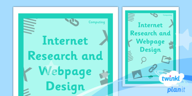 Computing: Internet Research and Webpage Design Year 5 Unit Book Cover