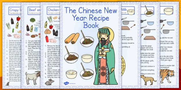 Chinese New Year Recipe Booklet - recipe, booklet, new year