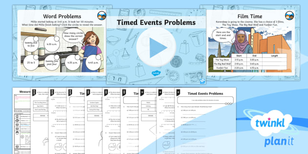 PlanIt Y3 Measurement Lesson Pack Comparing Timed Events (2) - measurement, time, timed events, minutes and seconds, compare duration of events, measures, time, ma