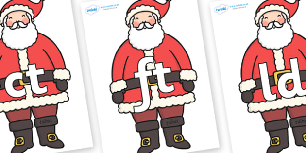 Final Letter Blends on Father Christmas - Final Letters, final letter, letter blend, letter blends, consonant, consonants, digraph, trigraph, literacy, alphabet, letters, foundation stage literacy