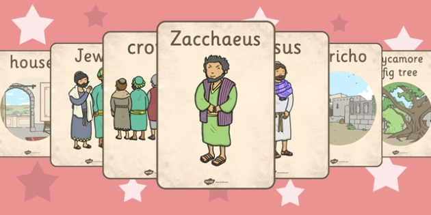 Zacchaeus the Tax Collector Bible Story Display Posters - poster