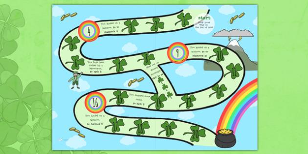 St. Patrick's Day Board Game - st patricks day, board game, game