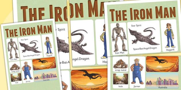 The Iron Man Vocabulary Poster - iron man, iron man display