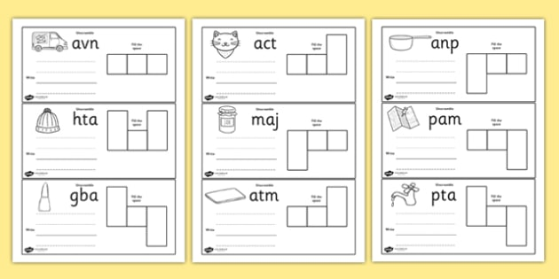 CVC Spelling Cards Pack - CVC, spelling, cards, pack, words, literacy, phonics, reading