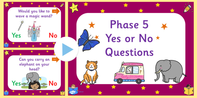 End Of Phase 5 Yes No Questions PowerPoint-phase five, phase 5, yes or no game, powerpoint, sounds, letters, phase powerpoint, phase, literacy