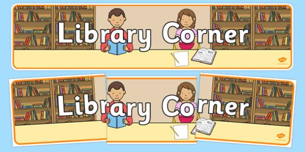 Library Corner Display Banner - library corner, display banner, banner for display, banner, display, display header, header, header for display