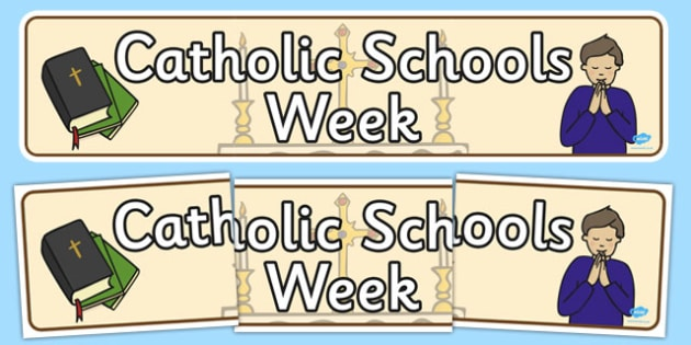 Catholic Schools Week Display Banner - display, banner, catholic