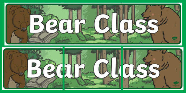 Bear Themed Classroom Display Banner - Themed banner, banner, display banner, Classroom labels, Area labels, Poster, Display, Areas