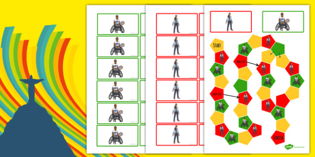 Rio Olympics 2016 Themed Editable Board Game - rio olympics, 2016 olympics, themed, editable, board game