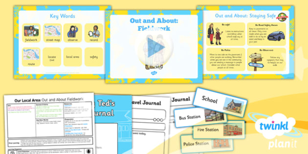 Geography: Our Local Area: Out and About Fieldwork Year 1 Lesson Pack 2