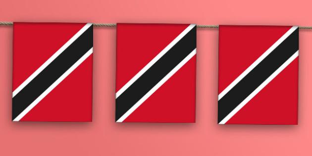 Trinidad and Tobago Flag Bunting - nation, international, geography, culture, display, caribbean , olympics