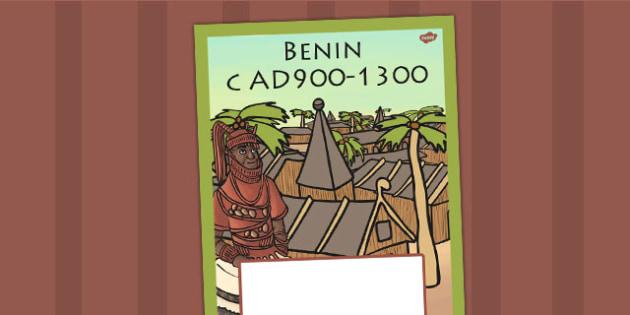 Benin c AD900 1300 Book Cover - benin, history, folder cover