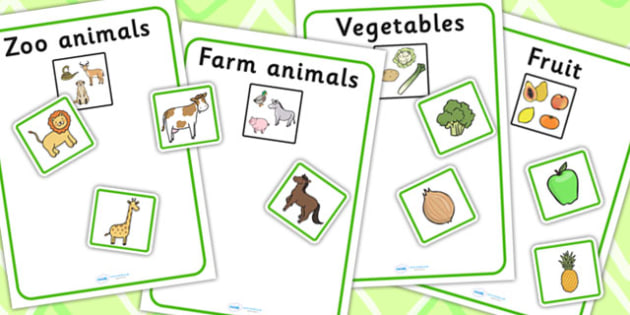 Twinkl Farm Animal Colouring Pages : Vegetables farm animals and zoo sorting activity