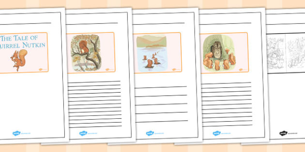 The Tale of Squirrel Nutkin Story Writing Frames - squirrel nutkin, story