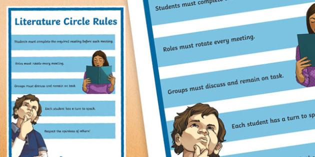 Literature Circle Rules A2 Display Poster