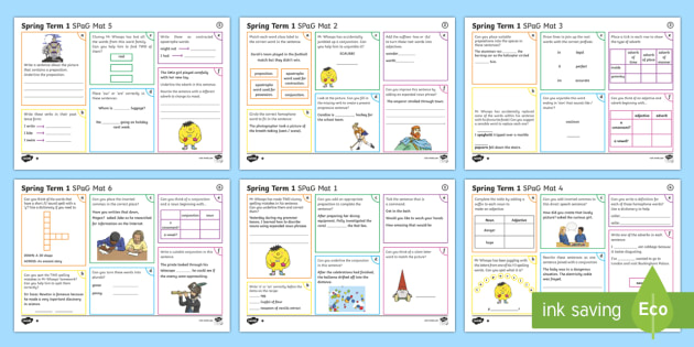 Year 3 Spring Term 1 SPaG Activity Mats - SPaG Activity Mats KS2, Y3, Year 3, spring, term, revision, activity, carousel, group, independent,