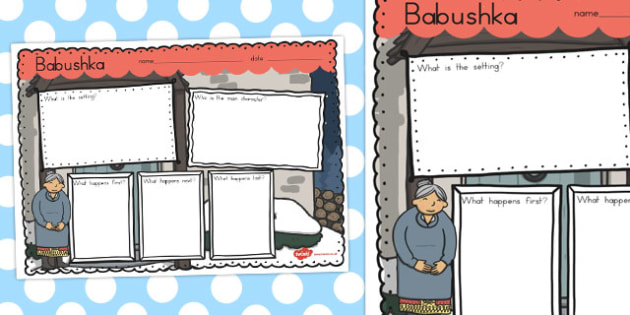 Babushka Book Review Writing Frame - australia, babushka, review