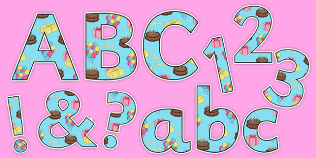 Happy Birthday Display Lettering - happy birthday, display lettering, display, letters, birthday