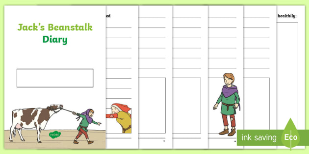 jack s beanstalk diary writing template jack and the