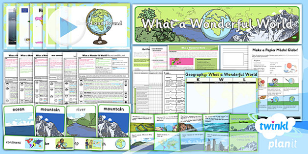 Geography: What a Wonderful World KS1 Unit Pack