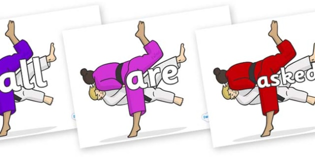 Tricky Words on Judo - Tricky words, DfES Letters and Sounds, Letters and sounds, display, words